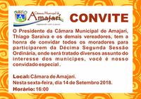 Convite a 12ª Sessão Solene