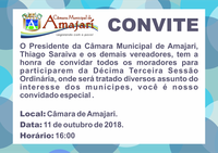 Convite a 13ª Sessão Ordinária