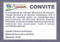 Convite a 14ª Sessão Ordinária
