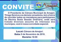 Convite a 16ª Sessão Ordinária