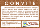 Convite a 17ª Sessão Ordinária