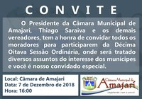 Convite a 18ª Sessão Ordinária