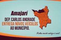 Dep. Carlos Andrade Entrega Novos Veículos ao Município de Amajari-RR